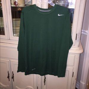 Nike men's Ling Sleeved Dri Fit Athletic Shirt L